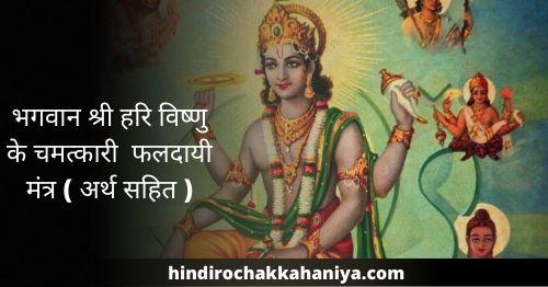 Vishnu Mantra भगवान श्री हरि विष्णु के चमत्कारी फलदायी मंत्र ( अर्थ सहित )